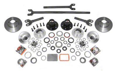 Alloy USA Manual Locking Hub Complete Conversion Kit (87-06 Jeep Wrangler YJ & TJ)