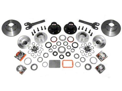 Alloy USA Manual Locking Hub Conversion Kit (87-95 Jeep Wrangler YJ)