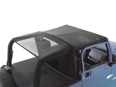 Rugged Ridge Mesh Roll Bar Top (97-06 Jeep Wrangler TJ)