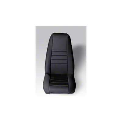 Rugged Ridge Neoprene Front Seat Covers Pair - Black (87-90 Jeep Wrangler YJ)