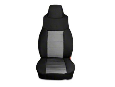 Rugged Ridge Neoprene Front Seat Covers - Gray/Black (03-06 Jeep Wrangler TJ)