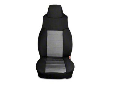 Rugged Ridge Neoprene Front Seat Covers - Gray/Black (03-06 Jeep Wrangler TJ)