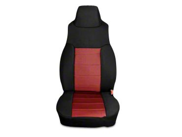 Rugged Ridge Neoprene Front Seat Covers - Red/Black (03-06 Jeep Wrangler TJ)