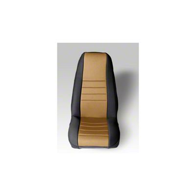 Rugged Ridge Neoprene Front Seat Covers - Tan/Black (87-90 Jeep Wrangler YJ)