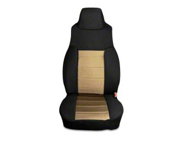 Rugged Ridge Neoprene Front Seat Covers - Tan/Black (03-06 Jeep Wrangler TJ)