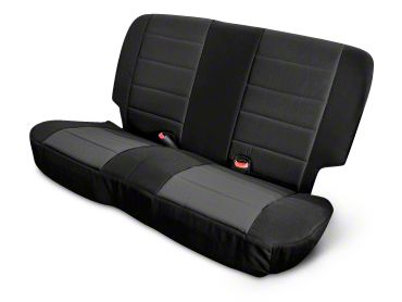 Rugged Ridge Neoprene Rear Seat Cover - Black (03-06 Jeep Wrangler TJ)