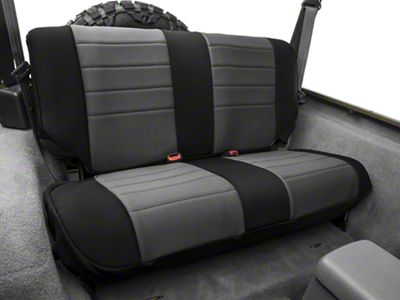 Rugged Ridge Neoprene Rear Seat Cover - Gray/Black (97-02 Jeep Wrangler TJ)