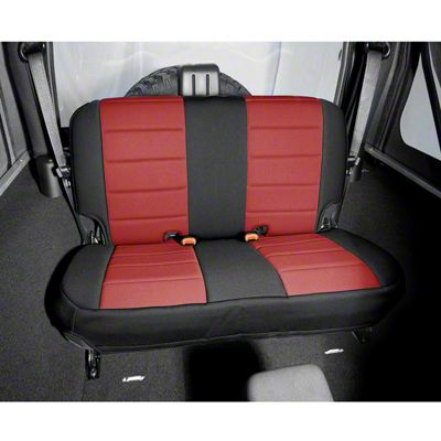 Rugged Ridge Neoprene Rear Seat Cover - Red/Black (97-02 Jeep Wrangler TJ)