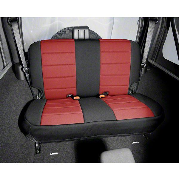 Rugged Ridge Neoprene Rear Seat Cover - Red/Black (97-02 Jeep Wrangler TJ)