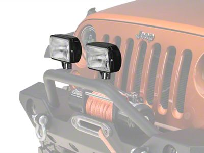 Rugged Ridge 5x7 in. Halogen Fog Lights - Pair (87-19 Jeep Wrangler YJ, TJ, JK & JL)