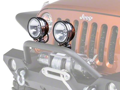 Rugged Ridge 6 in. Round Halogen Fog Lights - Pair (87-18 Jeep Wrangler YJ, TJ, JK & JL)