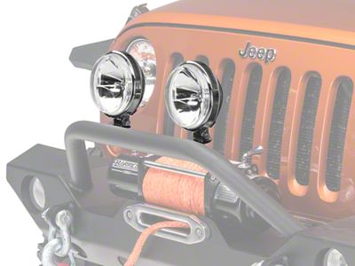 Rugged Ridge 6 in. Slim Halogen Fog Lights - Pair (87-19 Jeep Wrangler YJ, TJ, JK & JL)