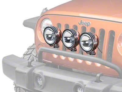 Rugged Ridge 6 in. Halogen Fog Lights - Stainless Steel - Set of Three (87-18 Jeep Wrangler YJ, TJ, JK & JL)