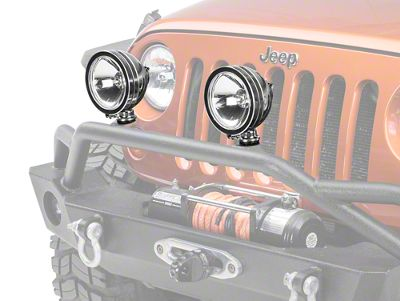 Rugged Ridge 6 in. Halogen Fog Light - Stainless Steel - Single (87-18 Jeep Wrangler YJ, TJ, JK & JL)