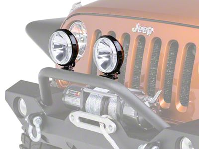Rugged Ridge 6 in. Slim Halogen Fog Light - Single (87-18 Jeep Wrangler YJ, TJ, JK & JL)