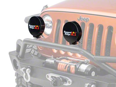 Rugged Ridge 6 in. Slim Off-Road Light Cover - Black (87-18 Jeep Wrangler YJ, TJ, JK & JL)