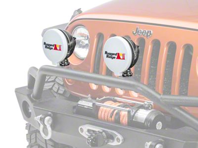 Rugged Ridge 6 in. HID Off-Road Light Cover - White (87-18 Jeep Wrangler YJ, TJ, JK & JL)
