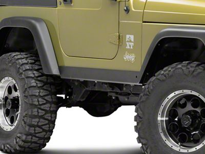 Olympic 4x4 1/4 in. Thick A/T Rocker Panel Guards - Textured Black (97-06 Jeep Wrangler TJ)