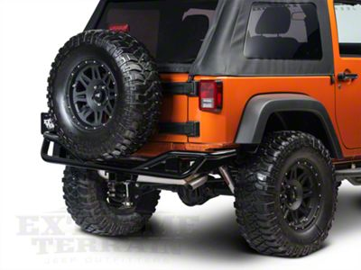 Olympic 4x4 Boa Xtreme Rear Bumper - Textured Black (07-18 Jeep Wrangler JK)
