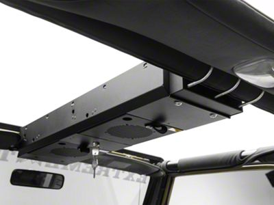 Tuffy 2 Compartment Overhead Security Console (87-02 Jeep Wrangler YJ & TJ)