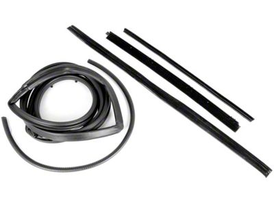 Omix-ADA Passenger Side Door Seal Kit w/ Hardtop & Fixed Vent Window (87-95 Jeep Wrangler YJ)