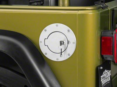 Rugged Ridge Polished Aluminum Locking Gas Hatch Cover (97-06 Jeep Wrangler TJ)