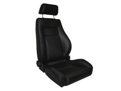 Rugged Ridge Reclining Front Super Seat w/ Headrest - Black Vinyl (87-02 Jeep Wrangler YJ & TJ)