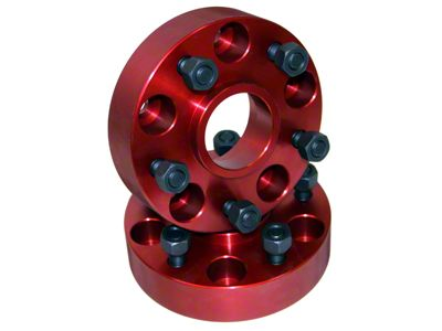 Alloy USA 1.25 in. Red Wheel Adapters - 5x4.5 to 5x5.5 (87-06 Jeep Wrangler YJ & TJ)
