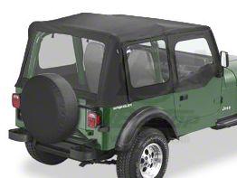 Bestop Replace-A-Top w/ Clear Windows - Black Denim (88-95 Jeep Wrangler YJ w/ Steel Half Doors)