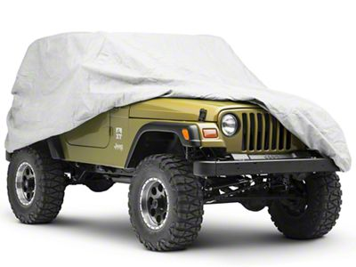 Rugged Ridge 3 Piece Full Car Cover Kit (87-06 Jeep Wrangler YJ & TJ)