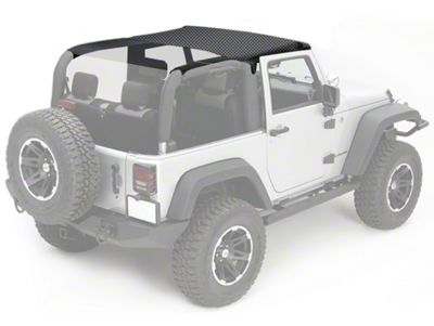 Rugged Ridge Pocket Summer Brief Top - Black Diamond (07-09 Jeep Wrangler JK 2 Door)