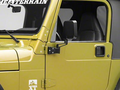 Rugged Ridge Black Dual Focal Point Mirrors (87-02 Jeep Wrangler YJ & TJ)