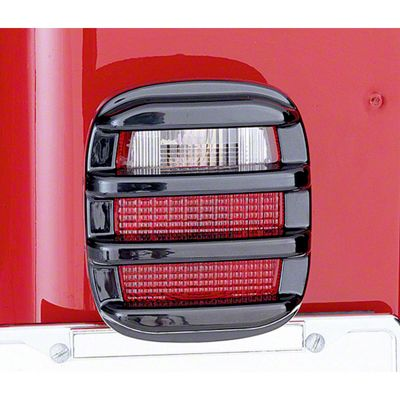 Rugged Ridge Taillight Guards - Black (87-06 Jeep Wrangler YJ & TJ)