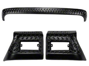 Rugged Ridge Body Armor Diamond Textured Black Plastic 3pc Kit (97-06 Jeep Wrangler TJ)