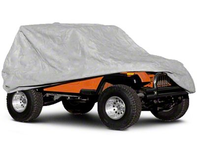 Rugged Ridge Deluxe Three Layer Full Car Cover (04-06 Jeep Wrangler TJ Unlimited; 07-18 Jeep Wrangler JK 4 Door; 2018 Jeep Wrangler JL 4 Door)