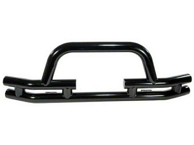 Rugged Ridge Tubular Front Bumper w/ Winch Cutout - Gloss Black (87-06 Jeep Wrangler YJ & TJ)