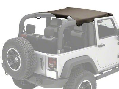 Rugged Ridge Pocket Summer Brief Top - Khaki Diamond (07-09 Jeep Wrangler JK 2 Door)