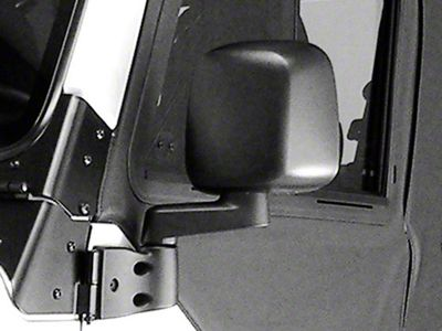 Rugged Ridge Left Side Black Non Folding Mirror (87-06 Jeep Wrangler YJ & TJ)