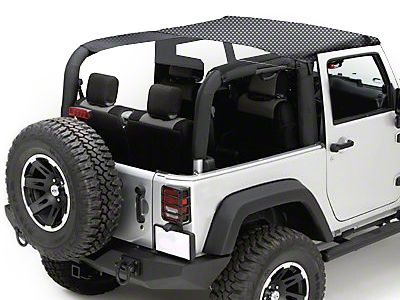 Rugged Ridge Mesh Summer Brief Top - Black (07-09 Jeep Wrangler JK 2 Door)