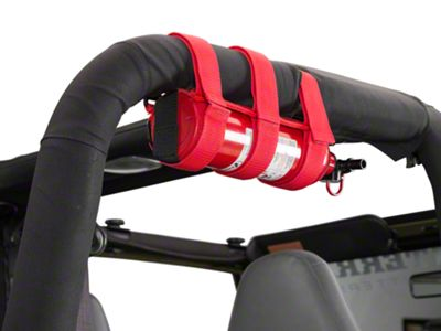 Rugged Ridge Red Sport Bar Fire Extinguisher Holder