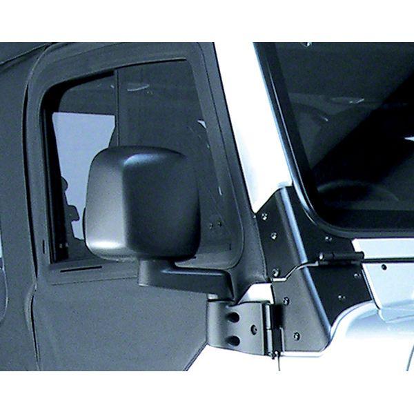 Rugged Ridge Right Side Black Non Folding Mirror (87-06 Jeep Wrangler YJ & TJ)