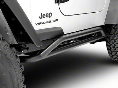 Rugged Ridge Rock Crawler Rock Sliders - Textured Black (87-06 Jeep Wrangler YJ & TJ, Excluding Unlimited)