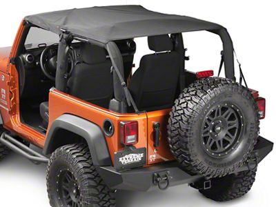 Rugged Ridge Mesh Summer Island Topper - Black (07-09 Jeep Wrangler JK 2 Door)