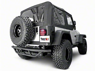 Rugged Ridge RRC Rear Bumper w/o Tire Carrier - Textured Black (87-06 Jeep Wrangler YJ & TJ)