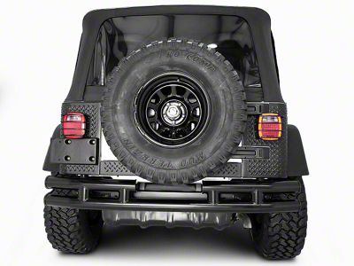 Rugged Ridge Tubular Rear Bumper w/o Hitch - Gloss Black (87-06 Jeep Wrangler YJ & TJ)