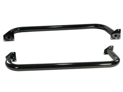 Rugged Ridge Side Step Bars - Gloss Black (97-06 Jeep Wrangler TJ, Excluding Unlimited)