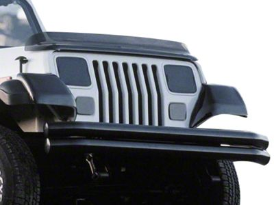 Rugged Ridge Smoke Plastic Molded Fender Guard Pair (87-95 Jeep Wrangler YJ)