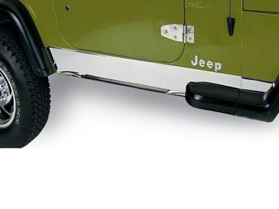 Rugged Ridge Stainless Rocker Panel (87-95 Jeep Wrangler YJ)