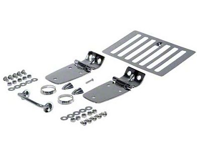 Rugged Ridge Stainless Steel Hood Kit (98-06 Jeep Wrangler TJ)