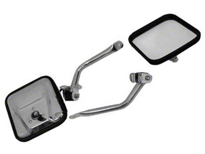 Rugged Ridge Stainless Steel Mirror Kit (97-06 Jeep Wrangler TJ)